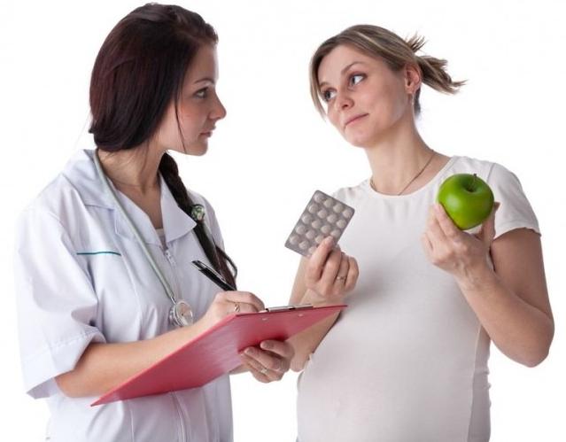 При беременности гемоглобин 98