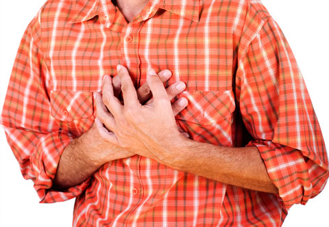 Резкая боль в районе сердца