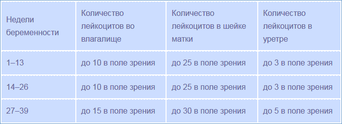 Таблица норм лейкоцитов